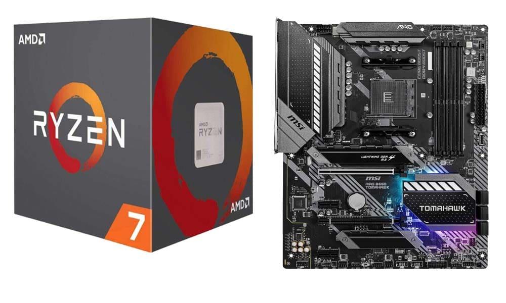 AMD Ryzen 7 3800X + MSI MAG B550 Tomahawk Gaming motherboard