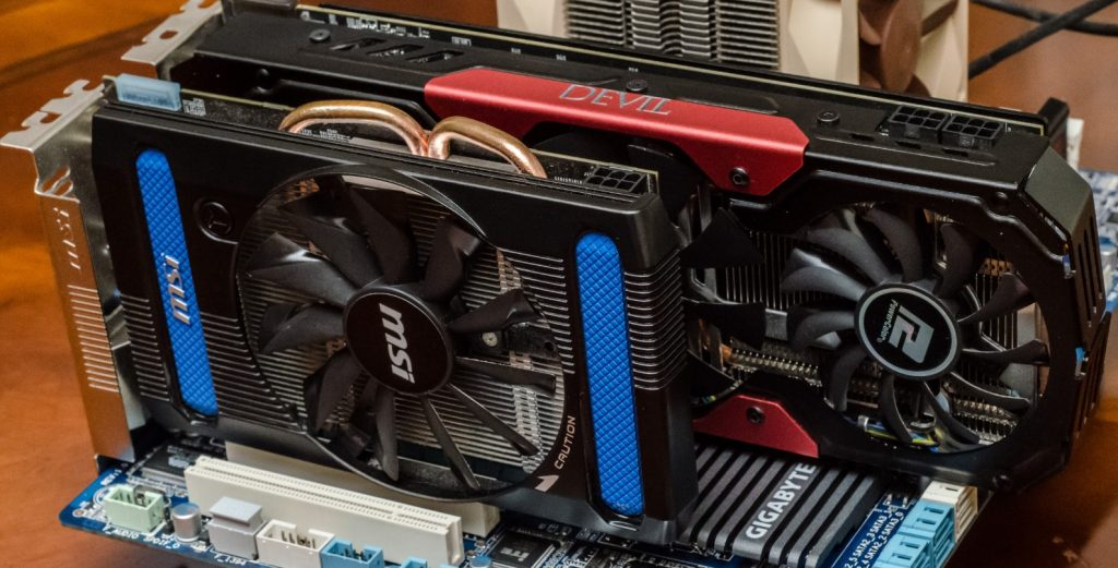 Fit the Graphic Card in wall mounted pc