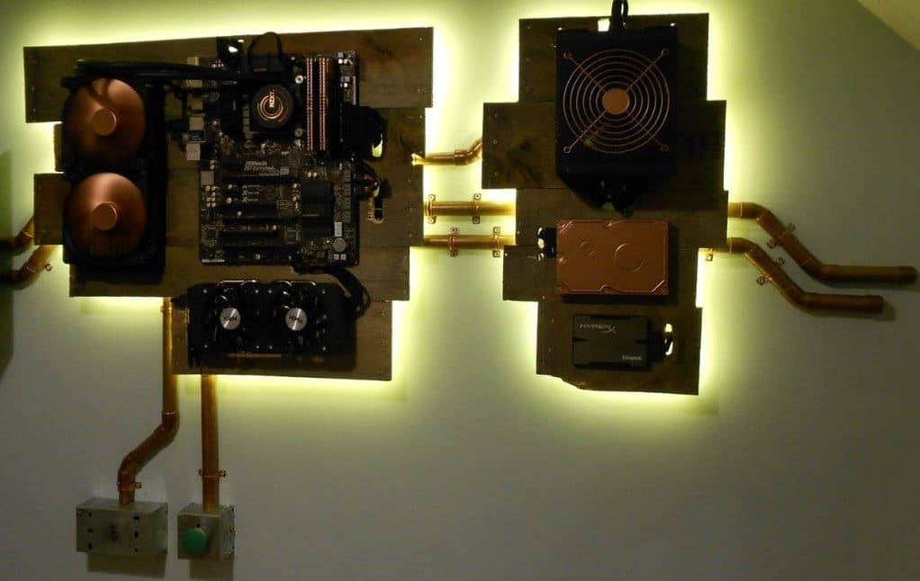 Secure Power Supply in wall mount pc