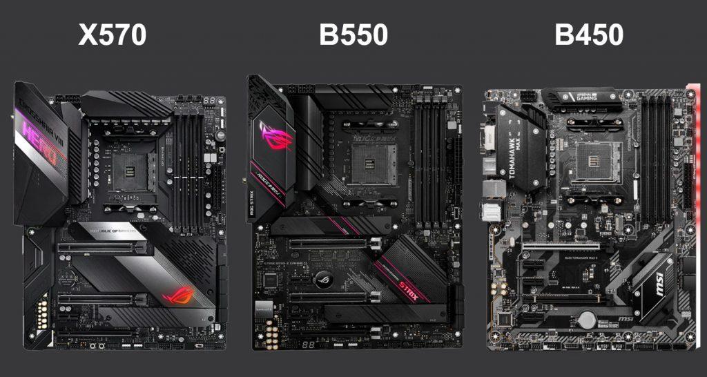 X570 vs B550 vs B450